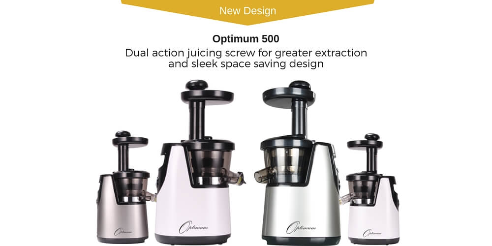 Optimum 500 Slow Juicer Review : Optimum Slow Juicers - SHOP